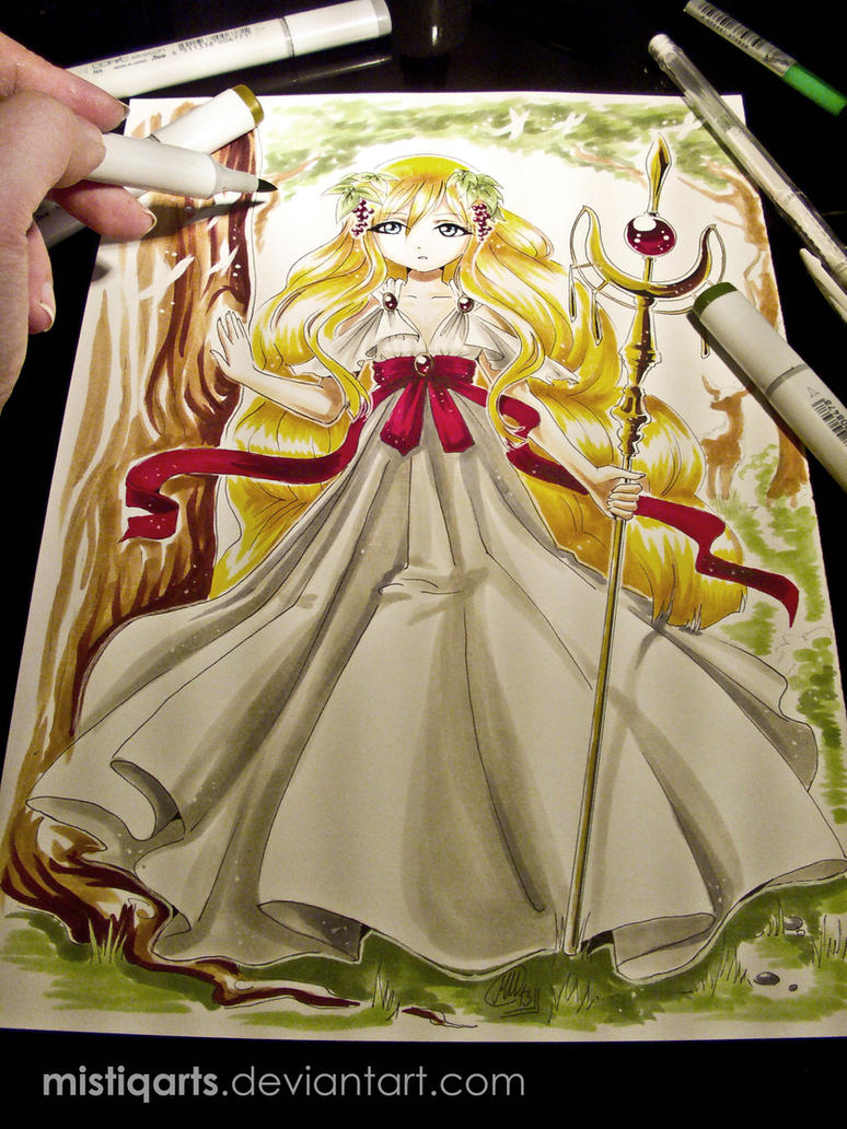 MAGI: Scheherezade Copic Illustration by Mistiqarts