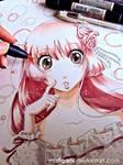 Shojo Girl Letraset Flex marker practice
