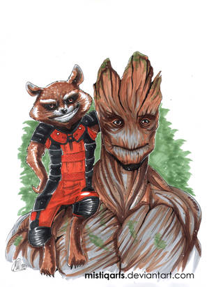Drawing Rocket And Groot Video By Mistiqarts On Deviantart
