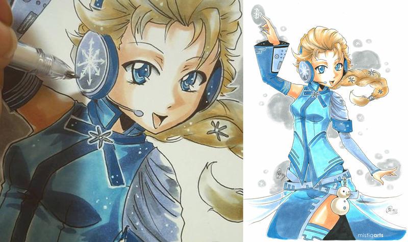 Vocaloid Elsa by Mistiqarts