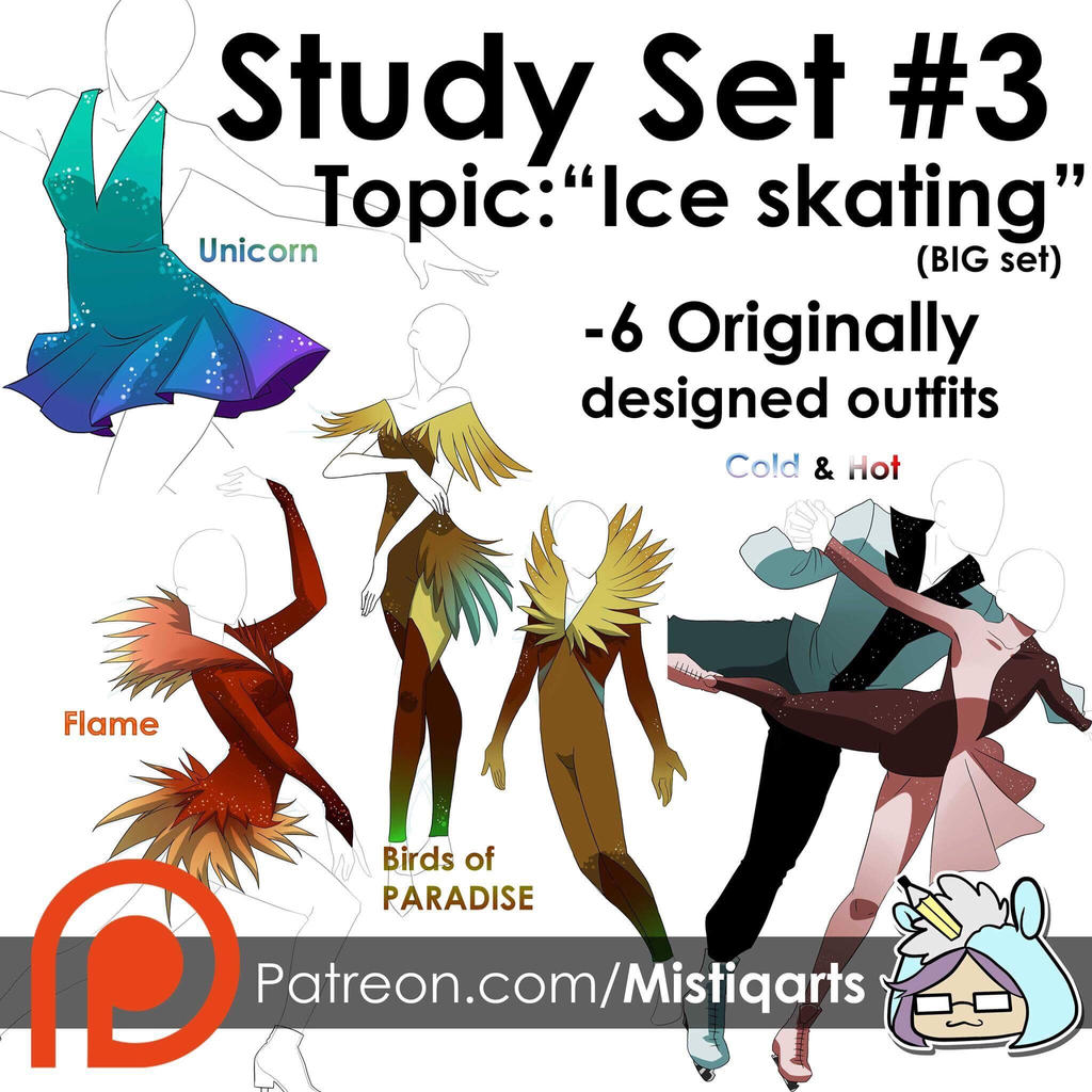 Study set #3: Ice skaters BIG SET by Mistiqarts