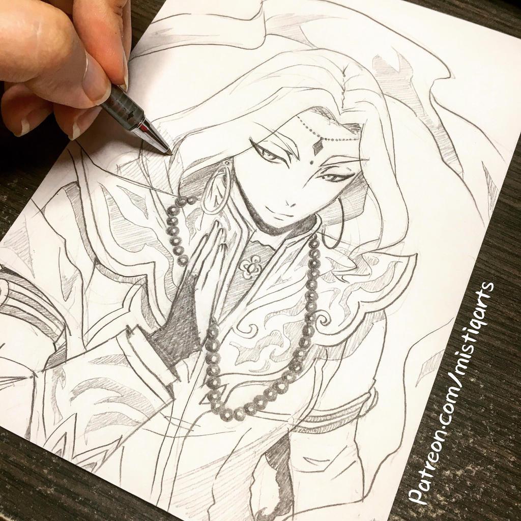 Nahyuta Sahdmahdi Sketch by Mistiqarts