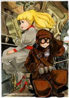 Steamboy Watercolor Fanart by Mistiqarts