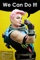 Zarya Cosplay: We Can Do It by Mistiqarts