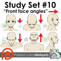 Front Face Angles Study Set for Manga