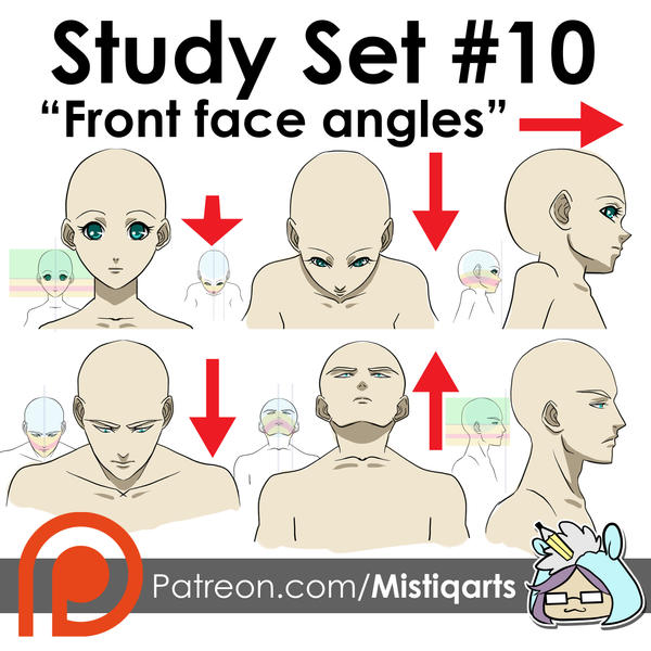 Front Face Angles Study Set for Manga by Mistiqarts