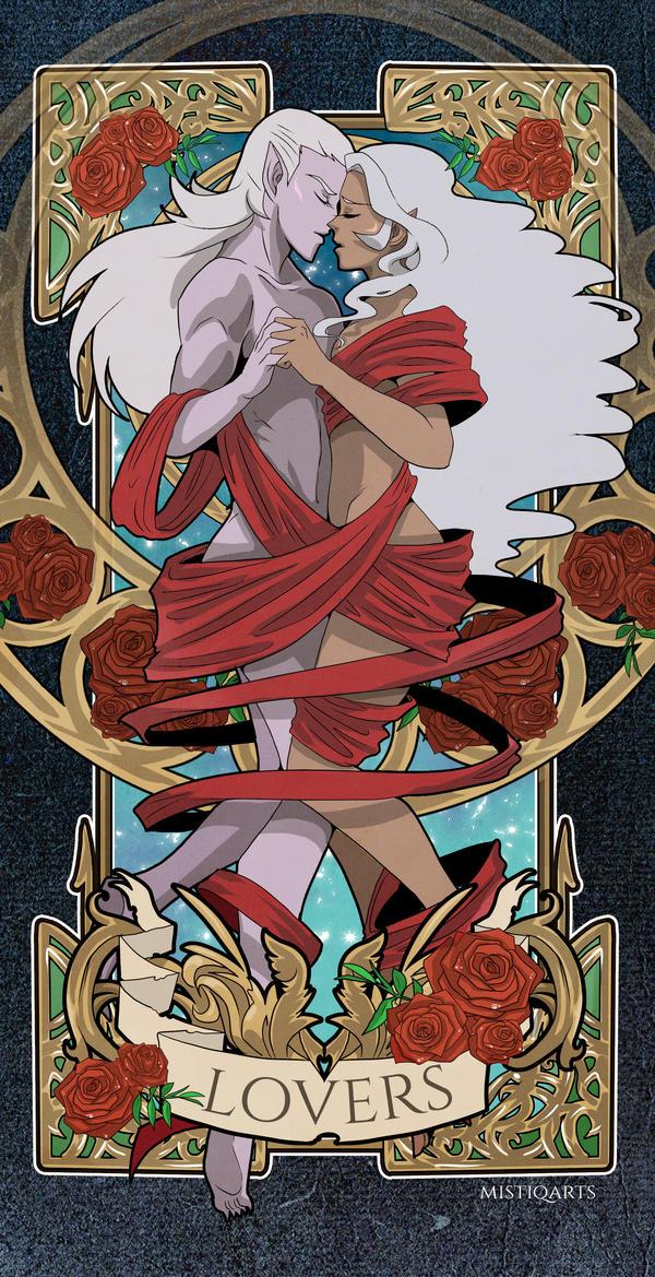Lotura Tarot Card by Mistiqarts