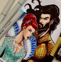 Aquaman and Mera Copic Art by Mistiqarts