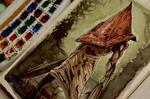 Pyramid Head Watercolor Art