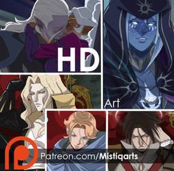 Patreon Monthly Rewards February: HD art by Mistiqarts