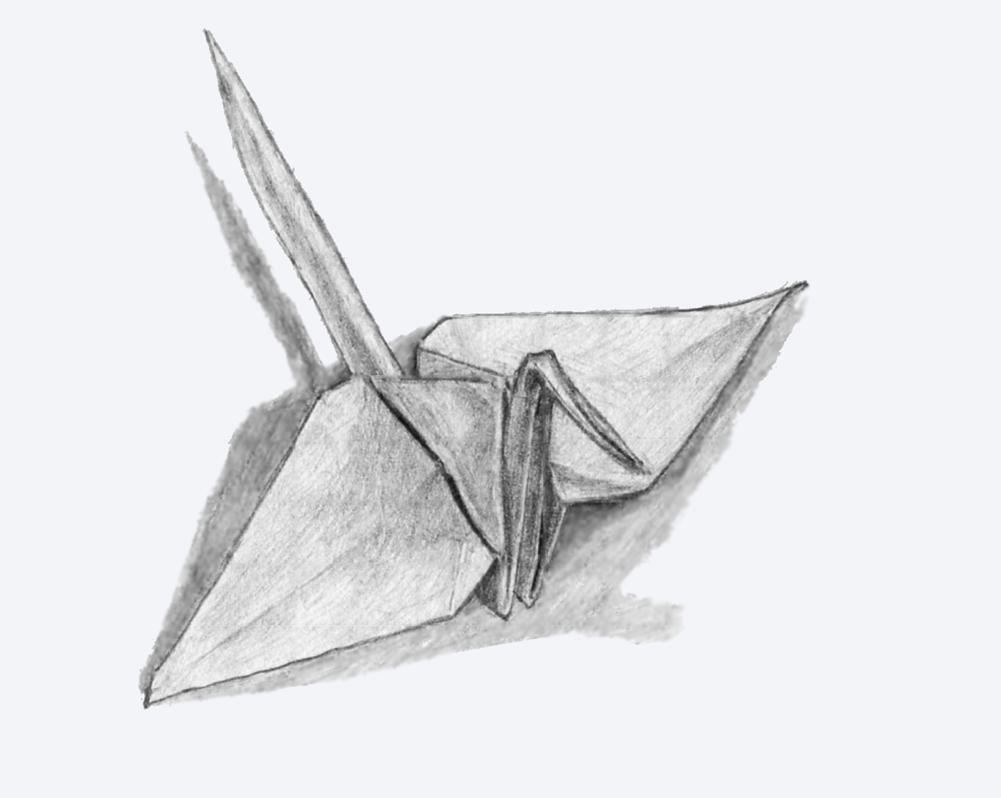 Origami Crane By Lluic