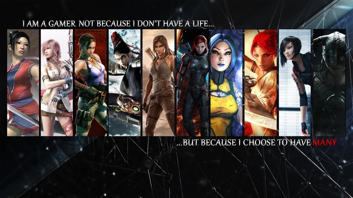 Gamer Girls Wallpaper by TheSweetMango