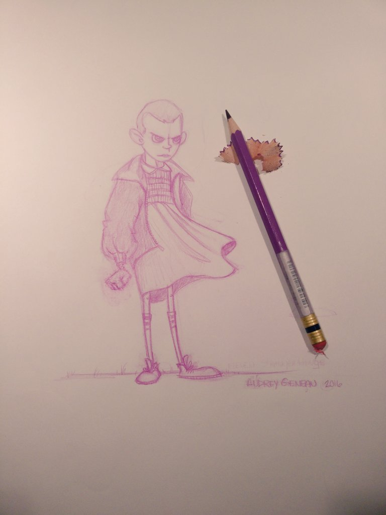 Eleven -  Stranger things by odielou
