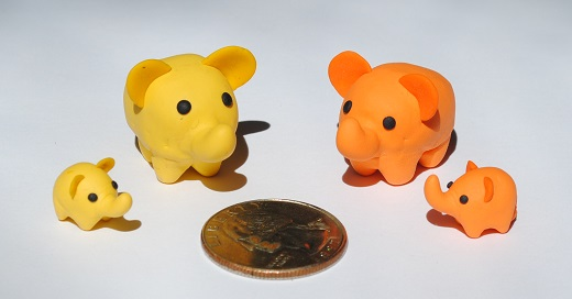 Yellow and Orange Elephants by teke-teke15