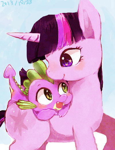 twilight and spike by chi-hayu