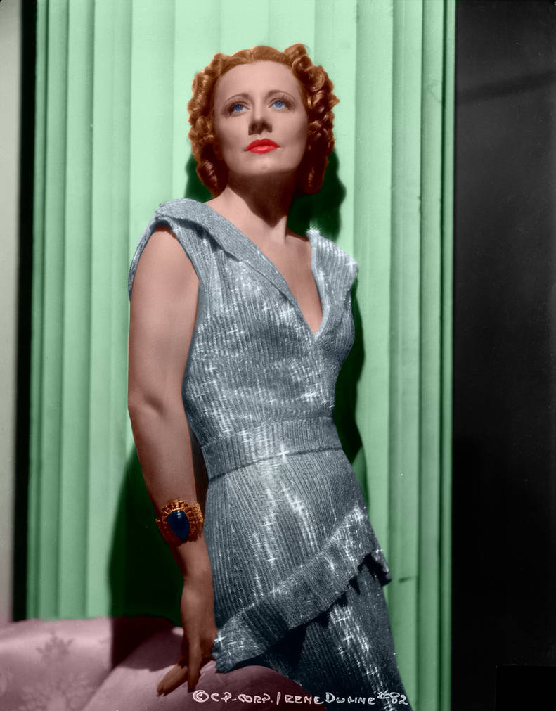 Irene Dunne Colorized 2