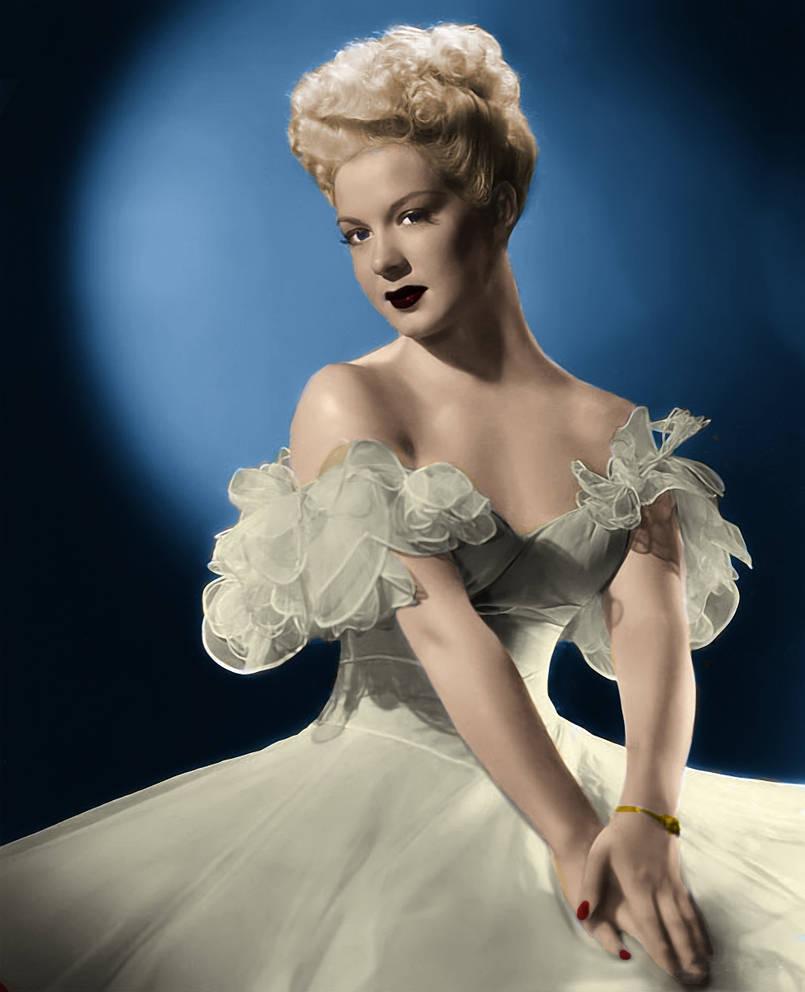 Betty Hutton Colorized