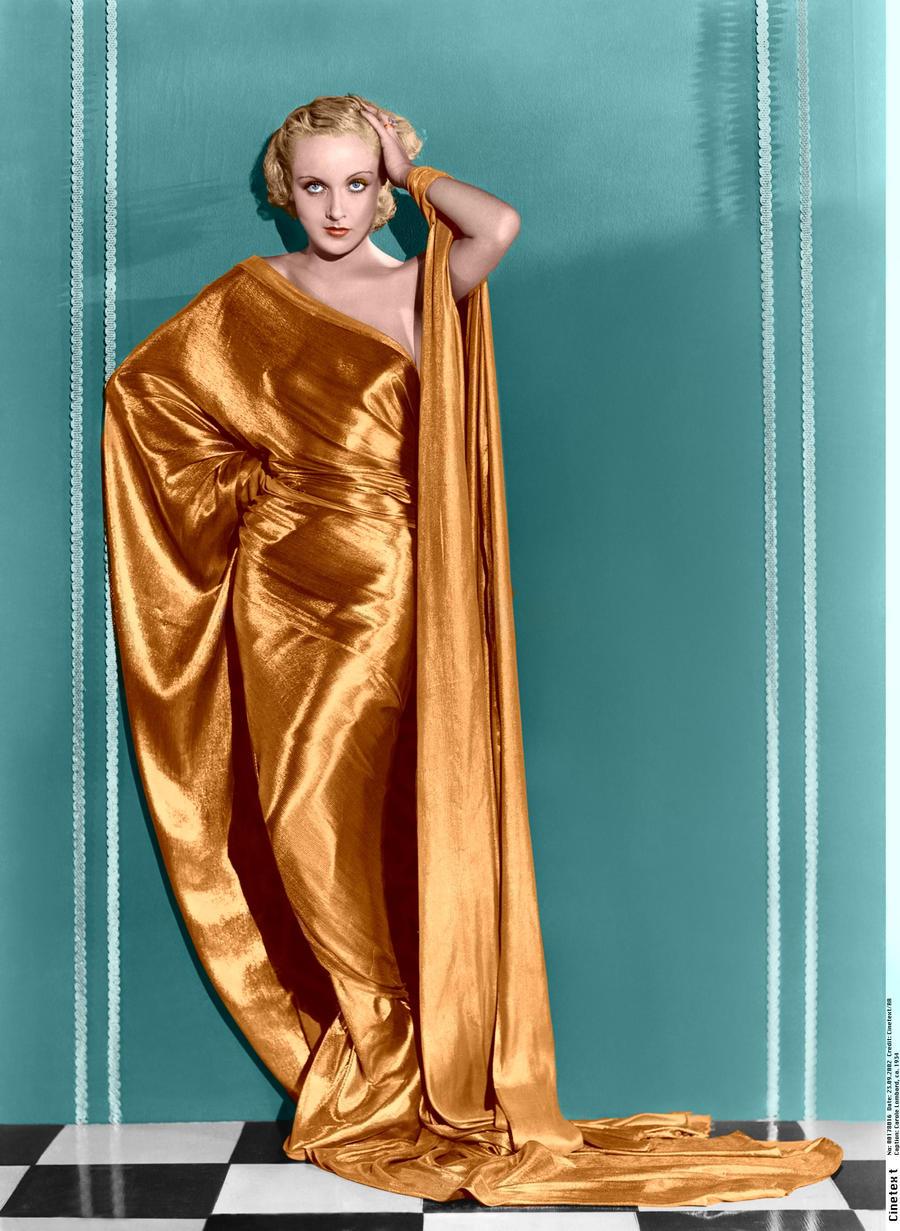Carole Lombard Godess Colorize