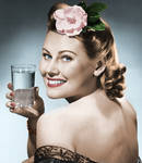 Vintage Water Advert Colorized