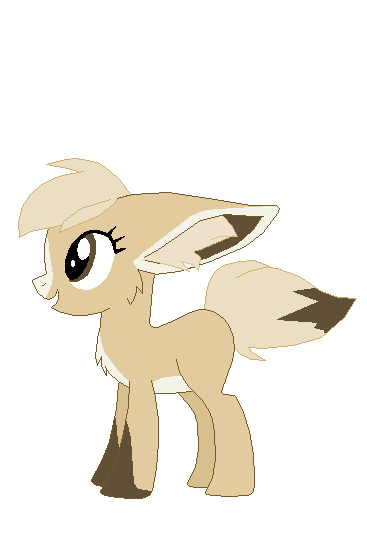 Fennec pony by Fluffomaru