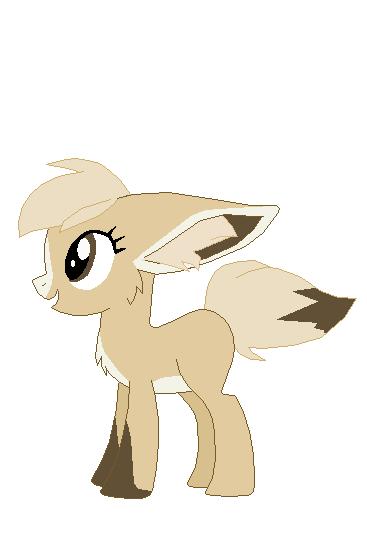 Fennec pony by Fluffomaru