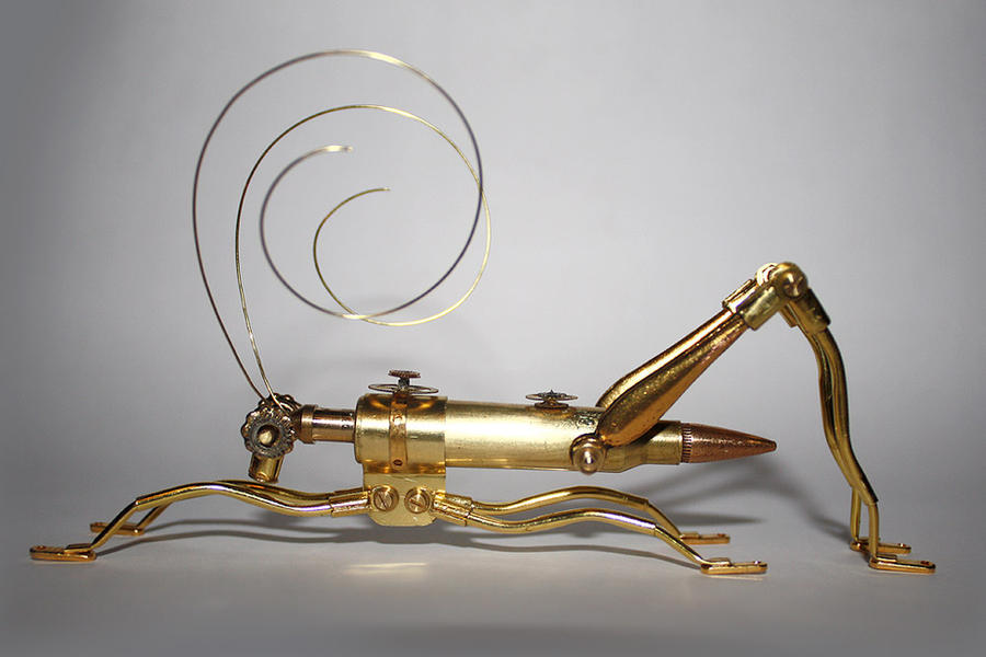 Steampunk grasshopper 4 by hardwidge