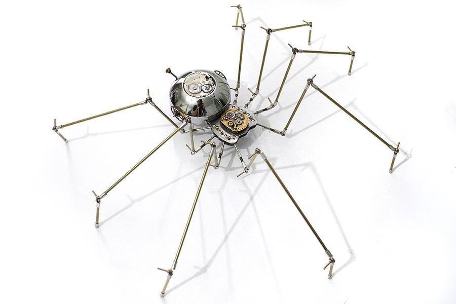 Steampunk metal spider sculpture by hardwidge on DeviantArt