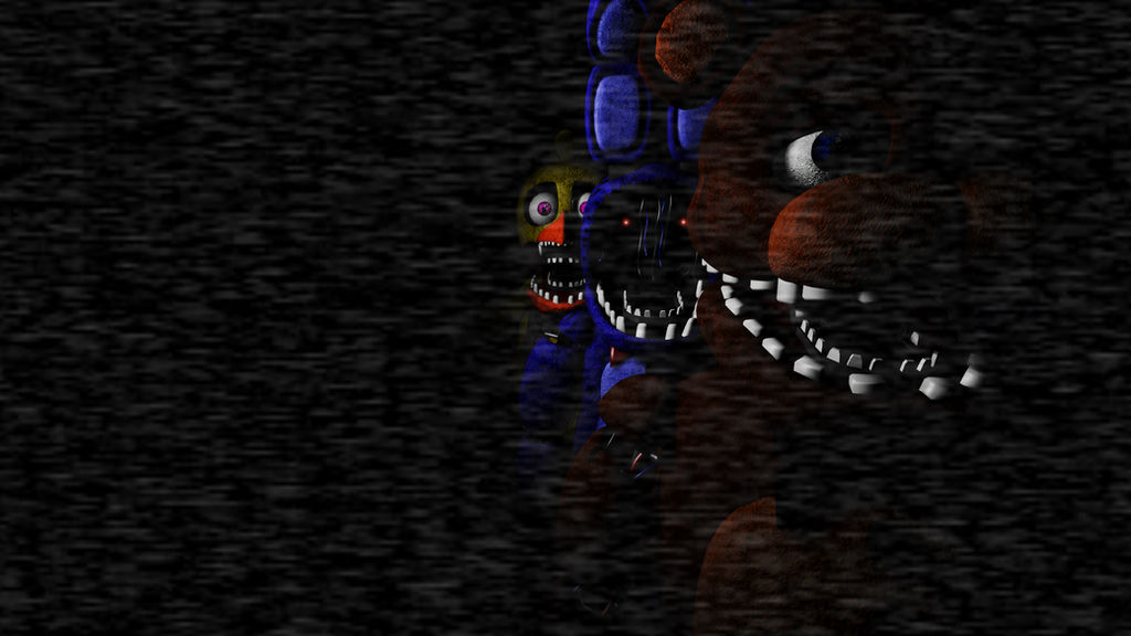 SFM](poster)FNaF 2 Start Screen-Withered Version- by