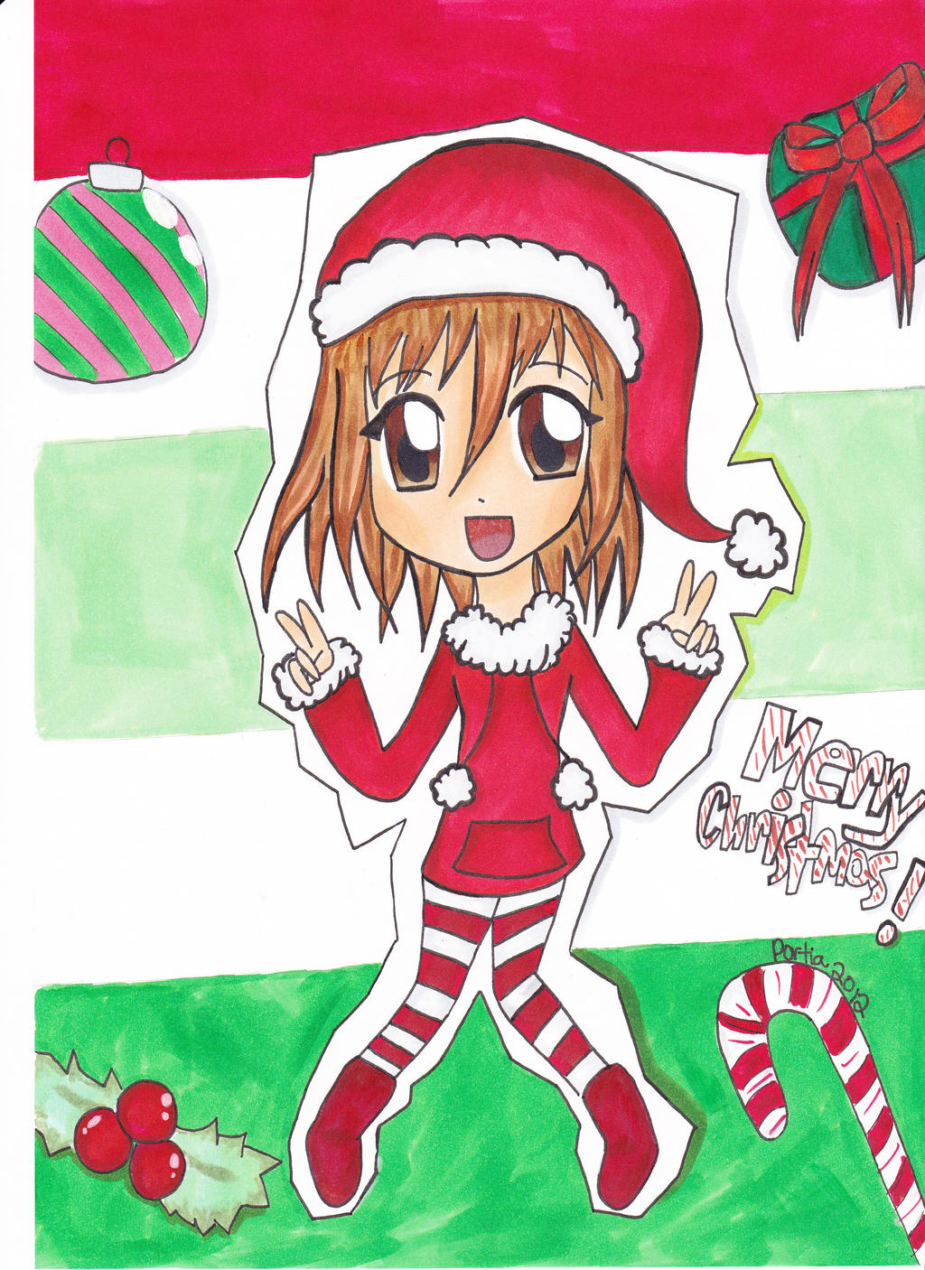Copic Coloring || Merry Christmas! || Anime Style By MysticalWaffles On DeviantArt