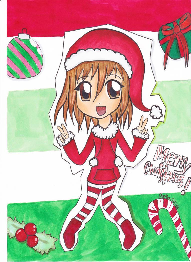Merry Christmas Anime Drawing Merry Christmas Anime