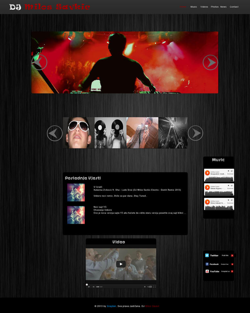 DJ Milos Template - For SALE by SnajdanCreative on DeviantArt