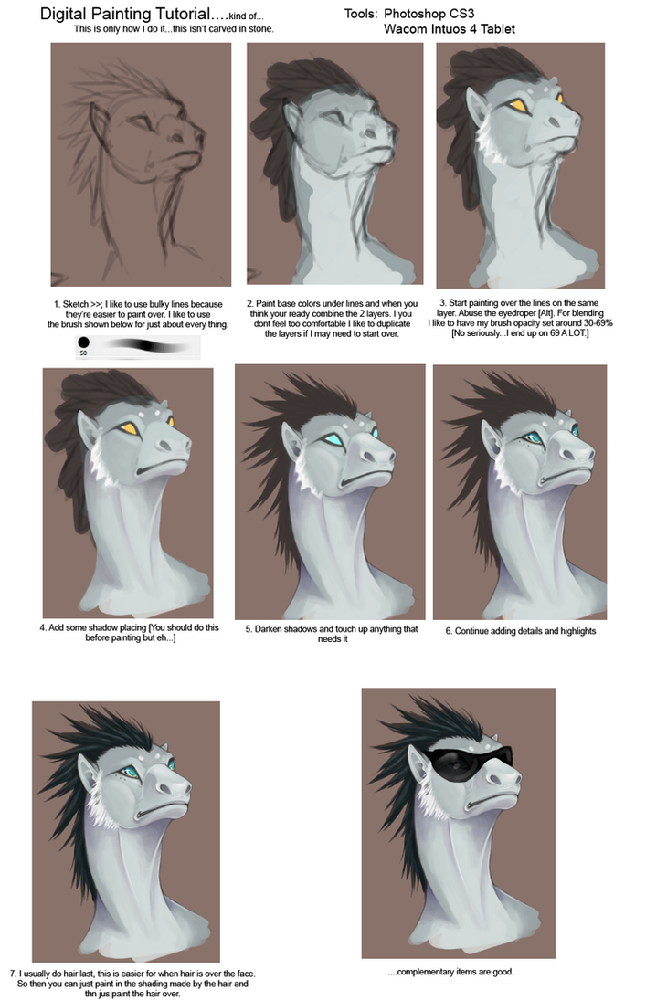 crapDigital Painting Tutorial by KayouVirus