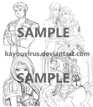 Sketch Samples by KayouVirus
