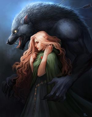 Elf and Wolf by KayouVirus