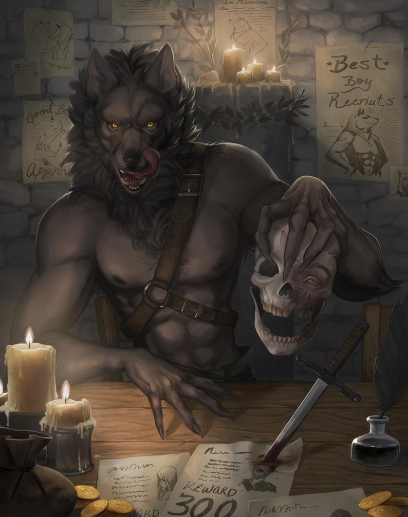 Best Boy Werewolf by KayouVirus