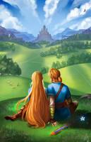 Link and Zelda by KayouVirus