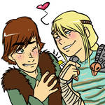 Hiccup+Astrid: Love Tap