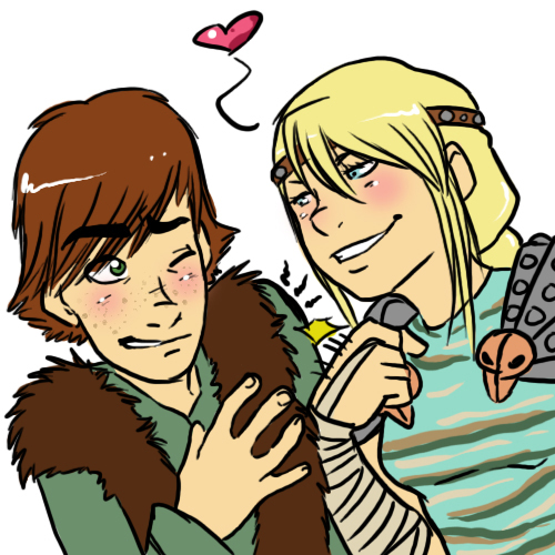 hiccup astrid love tap by yamilink on deviantart