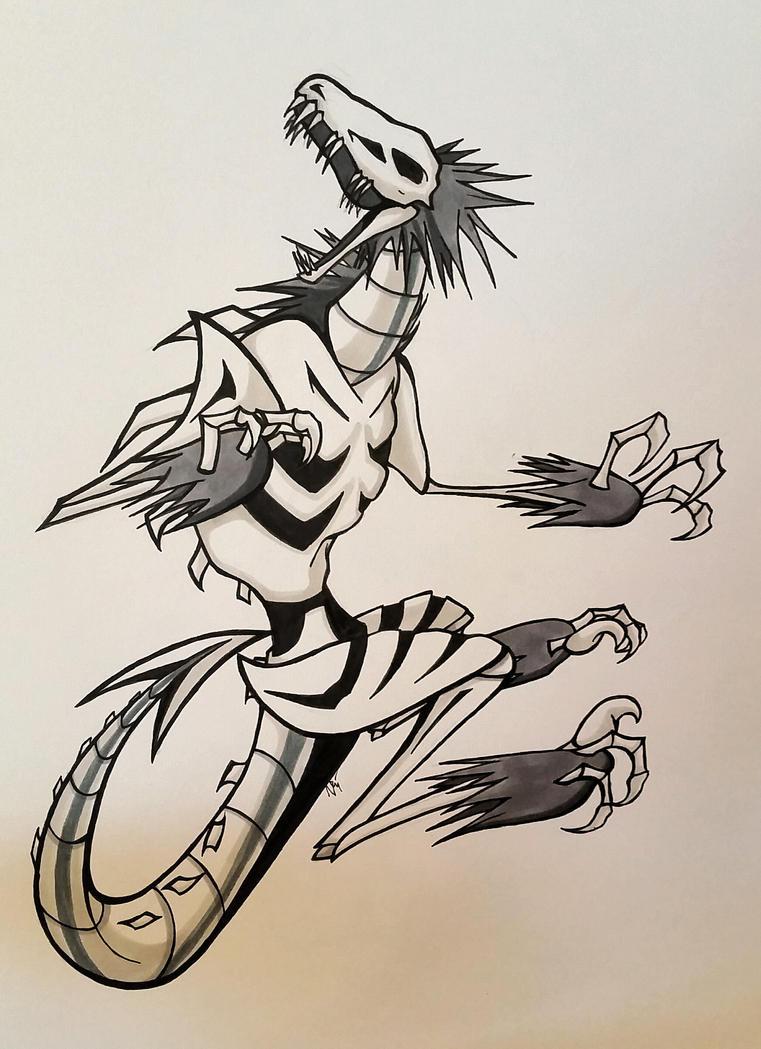 Skeleton Raptor by Visoris