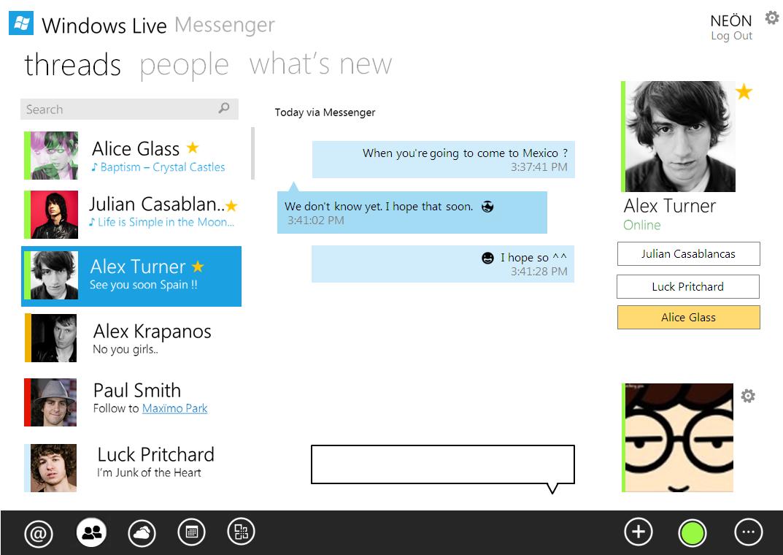 Windows Live Messenger Metro