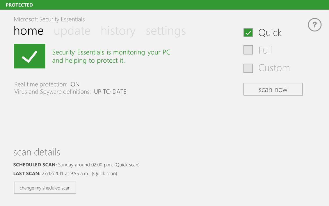 Microsoft Security Essentials Metro 2 by arcticpaco