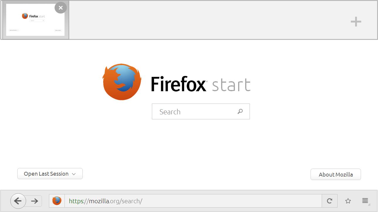 Firefox (Metro Version) App UI