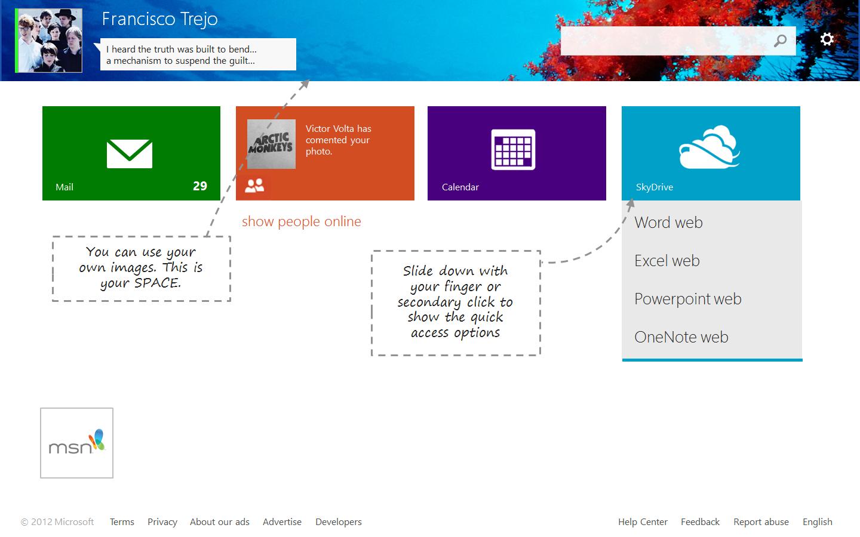 Windows 'Live' Metro (hotmail.com) by arcticpaco