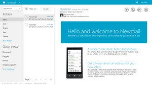 Newmail (Hotmail) concept