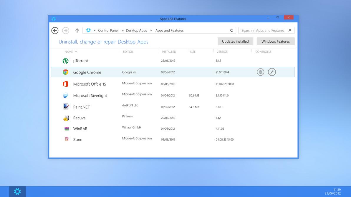 Uninstall Desktop Apps by arcticpaco