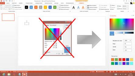 Panel de Colores (Office 2013)