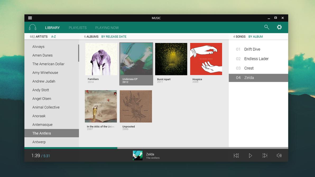Music (Windows App) by arcticpaco