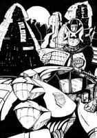 Dredd ink by ComicStumps