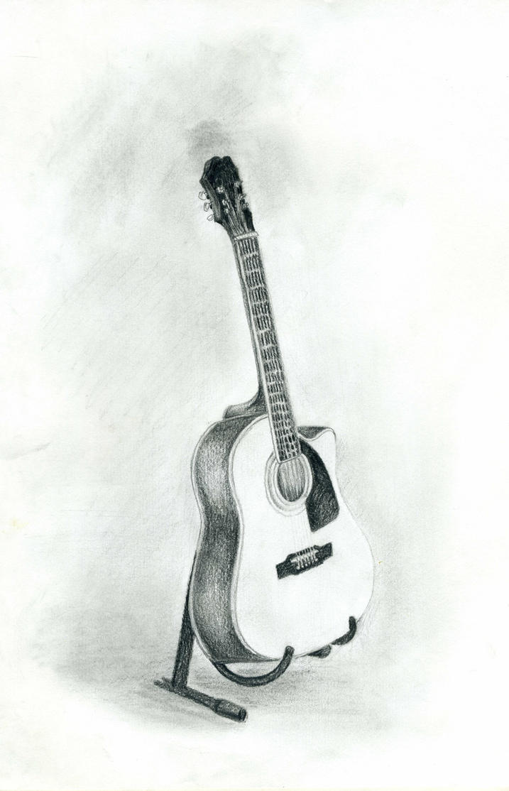 Guitar Sketch By Pekraelin On DeviantArt