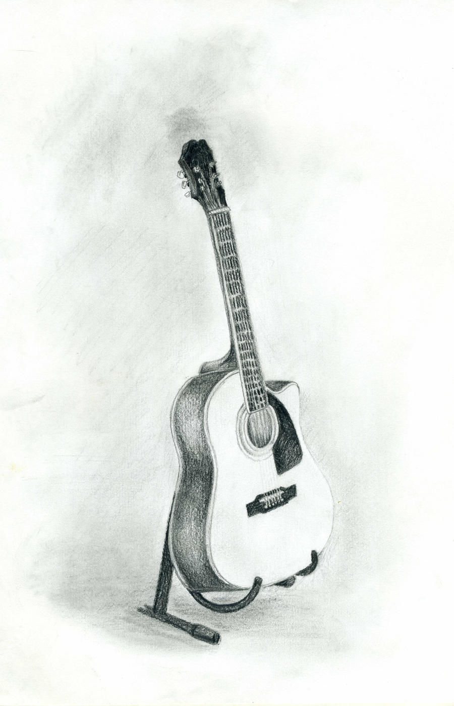pictures of still life drawing guitar